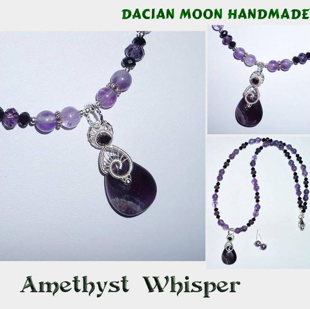 """Amethyst Whisper"" jewelry set"