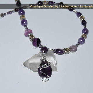 """Amethyst Sunrise"" necklace"