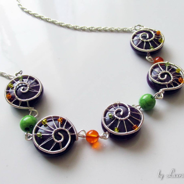 """Autumn Evening"" necklace"