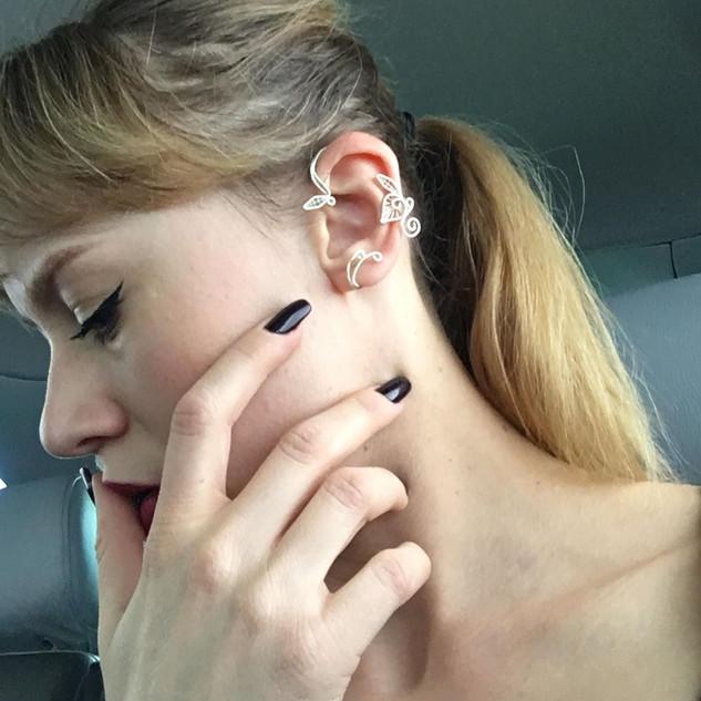 Awesome Belle wearing my ear cuff :)