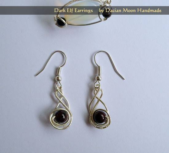 """Dark Elf"" earrings"