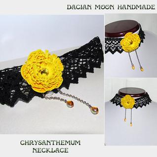 """Chrysanthemum"" necklace"