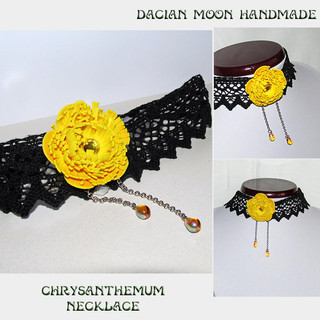 """Chrysanthemum"" necklace"