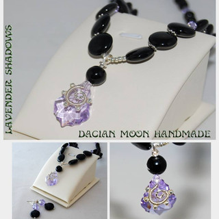 Lavender Shadows jewelry set