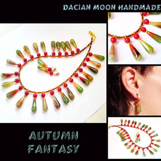 """Autumn Fantasy"" jewelry set"