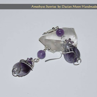 """Amethyst Sunrise"" earrings"