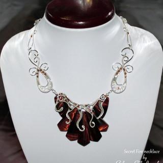 """""""Secret Fire"""" necklace"""