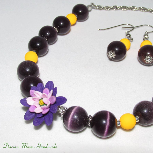 Twilight necklace and earrings