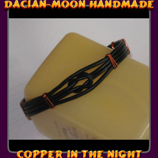 """Copper in the Night"" bracelet for men"