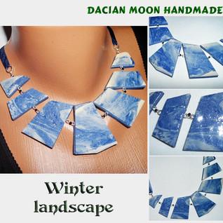 """""""Winter Landscape"""" necklace"""
