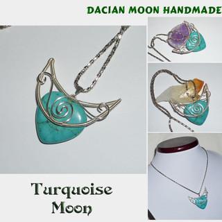 """Turquoise Moon"" pendant"