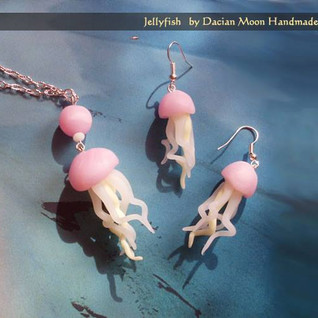 """Jellyfish"" jewelry set"