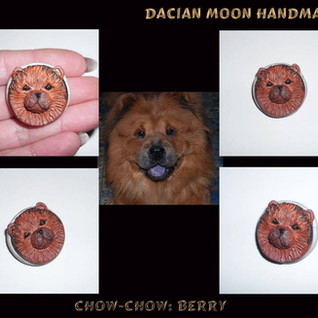 """""""Chow-chow: Berry"""" brooch"""