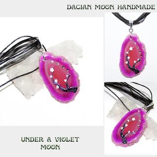 """""""Under a Violet Moon"""" pendant"""