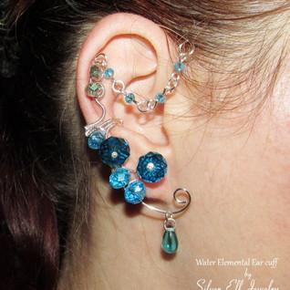 Water Elemental Ear Cuff