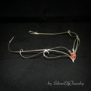 Elven Circlet In Red And Silver