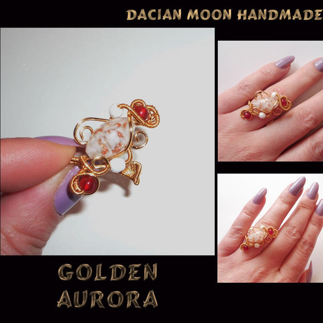 """Golden Aurora"" Ring"