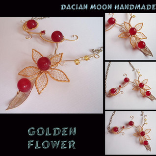 """Golden Flower"" necklace"