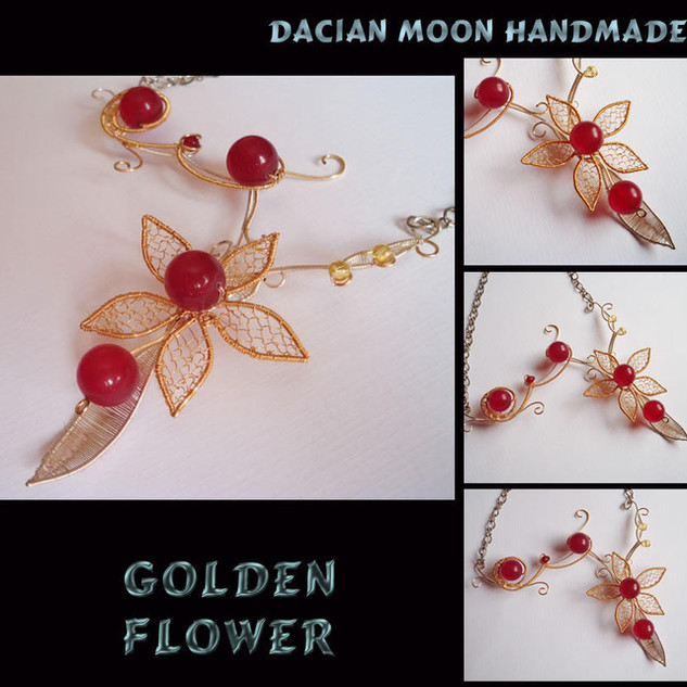 """Golden Flower"" necklace"