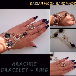 Arachne (bracelet + ring)