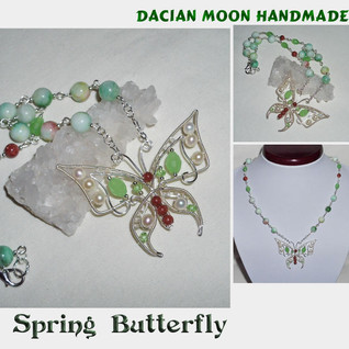 """Spring Butterfly"" necklace"