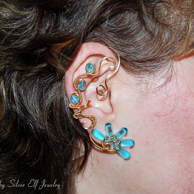 Golden Reflections Ear Cuff