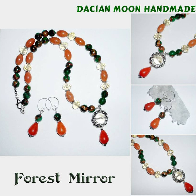 """Forest Mirror"" jewelry set"