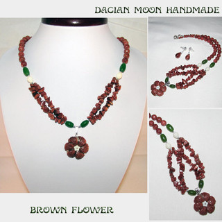 """Brown Flower"" set"