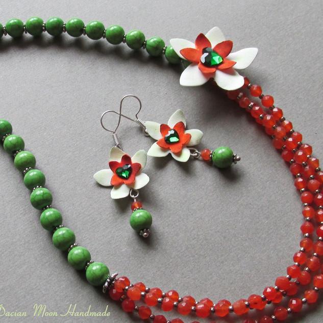 """Nature"" jewelry set"