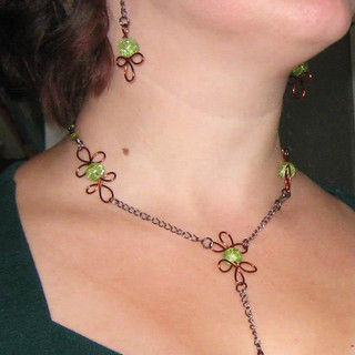 """Wood Elf"" jewelry set"