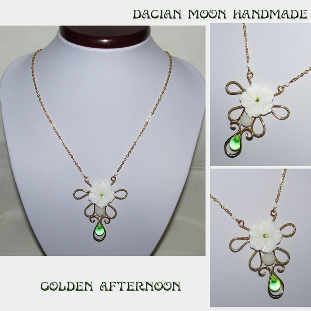 """""""Golden Afternoon"""" pendant"""