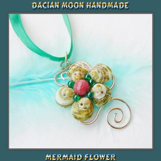"""Mermaid Flower"" pendant"