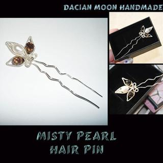 """Misty Pearl"" hair pin"
