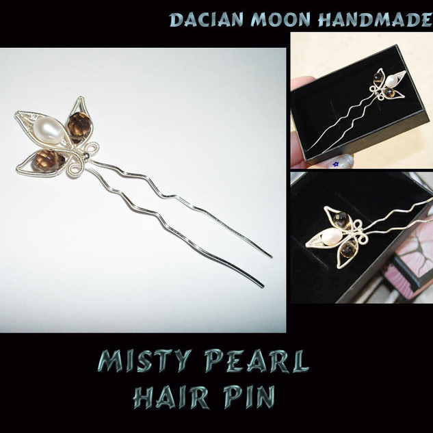 """Misty Pearl"" hair pin"