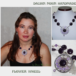 """Flower Wheel"" necklace"