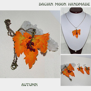 """Autumn"" jewelry set"