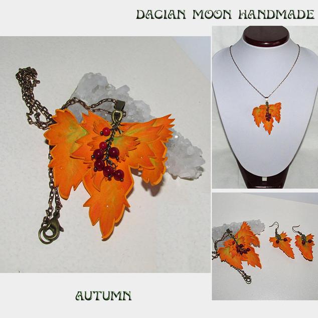 """Autumn"" jewelry set"