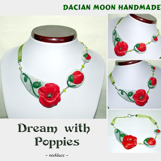 """Dream with Poppies"" necklace"