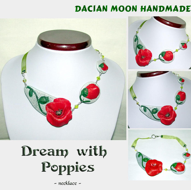 """""""Dream with Poppies"""" necklace"""