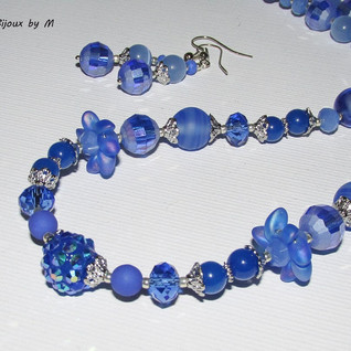 Color Fantasy: Blue jewelry set