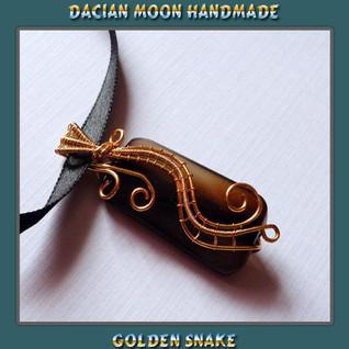 """""""Golden Snake"""" pendant"""