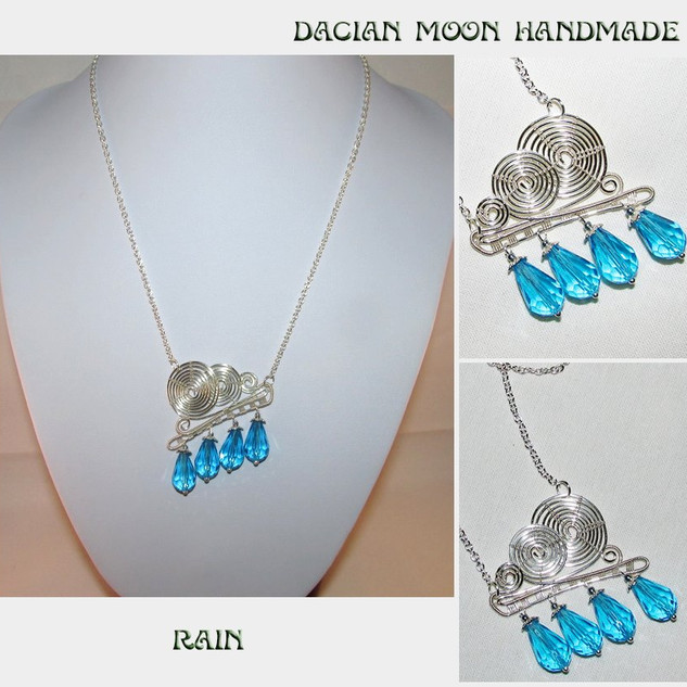 """Rain"" necklace"