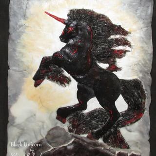 Black Unicorn wall decoration