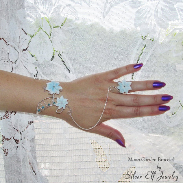 Moon Garden Bracelet With Ring