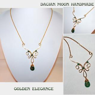 """""""Golden Elegance"""" necklace"""
