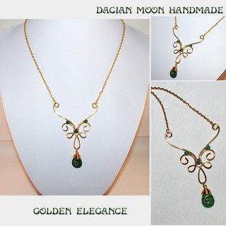 """Golden Elegance"" necklace"