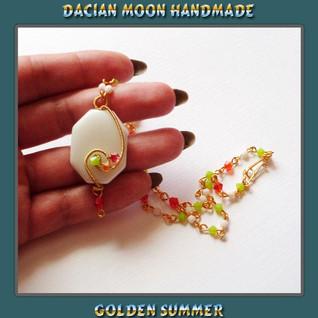 """Golden summer"" necklace"