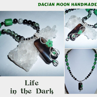 """Life in the Dark"" necklace"