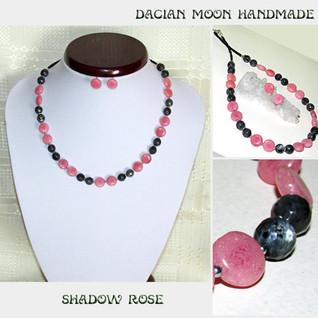 """Shadow Rose"" jewelry set"