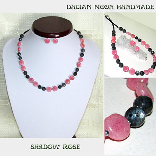 """Shadow Rose"" jewelry set"